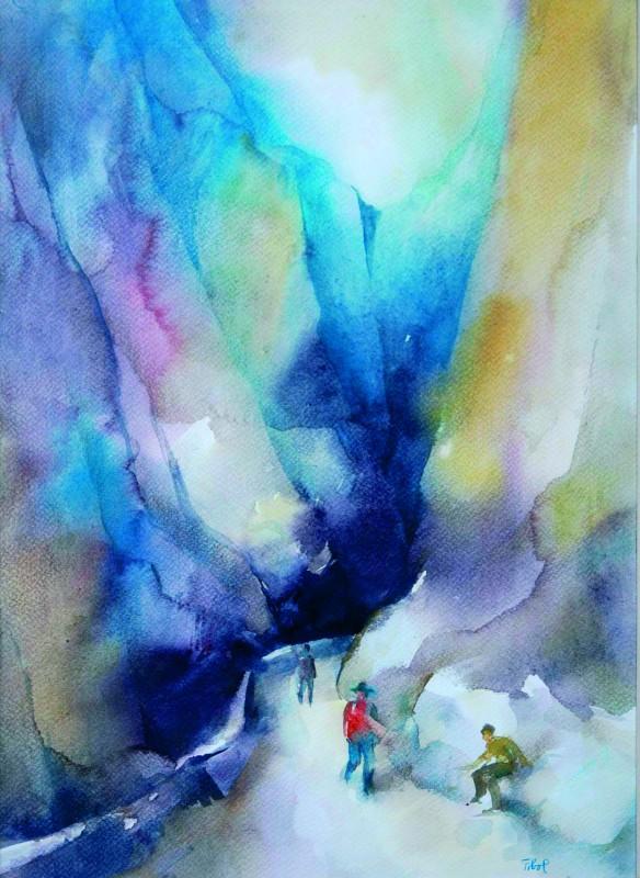 A Békás-szoros 1994 33x46 cm papír, akvarell