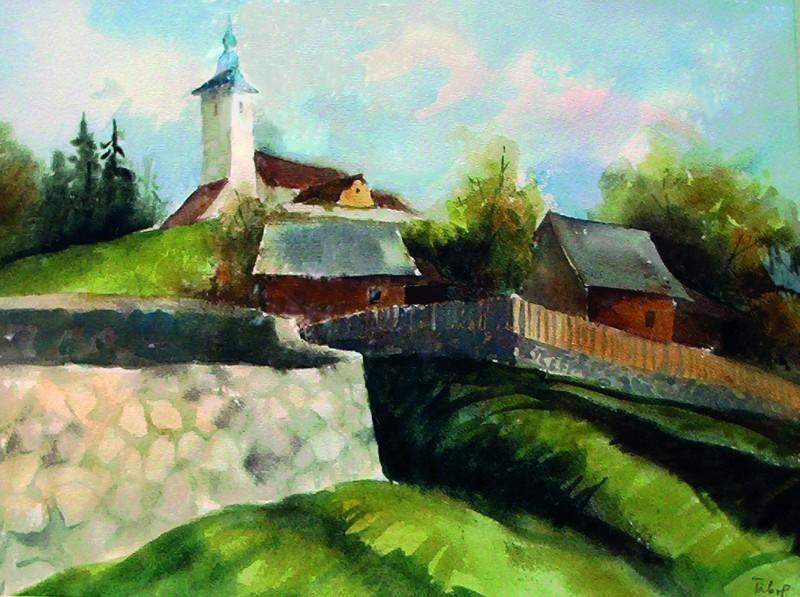 Szárhegyi részlet 1996 47x37 cm papír, akvarell