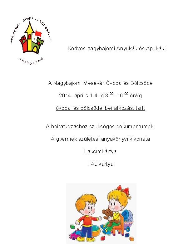 Beiratkozás 2014. április 1-4.