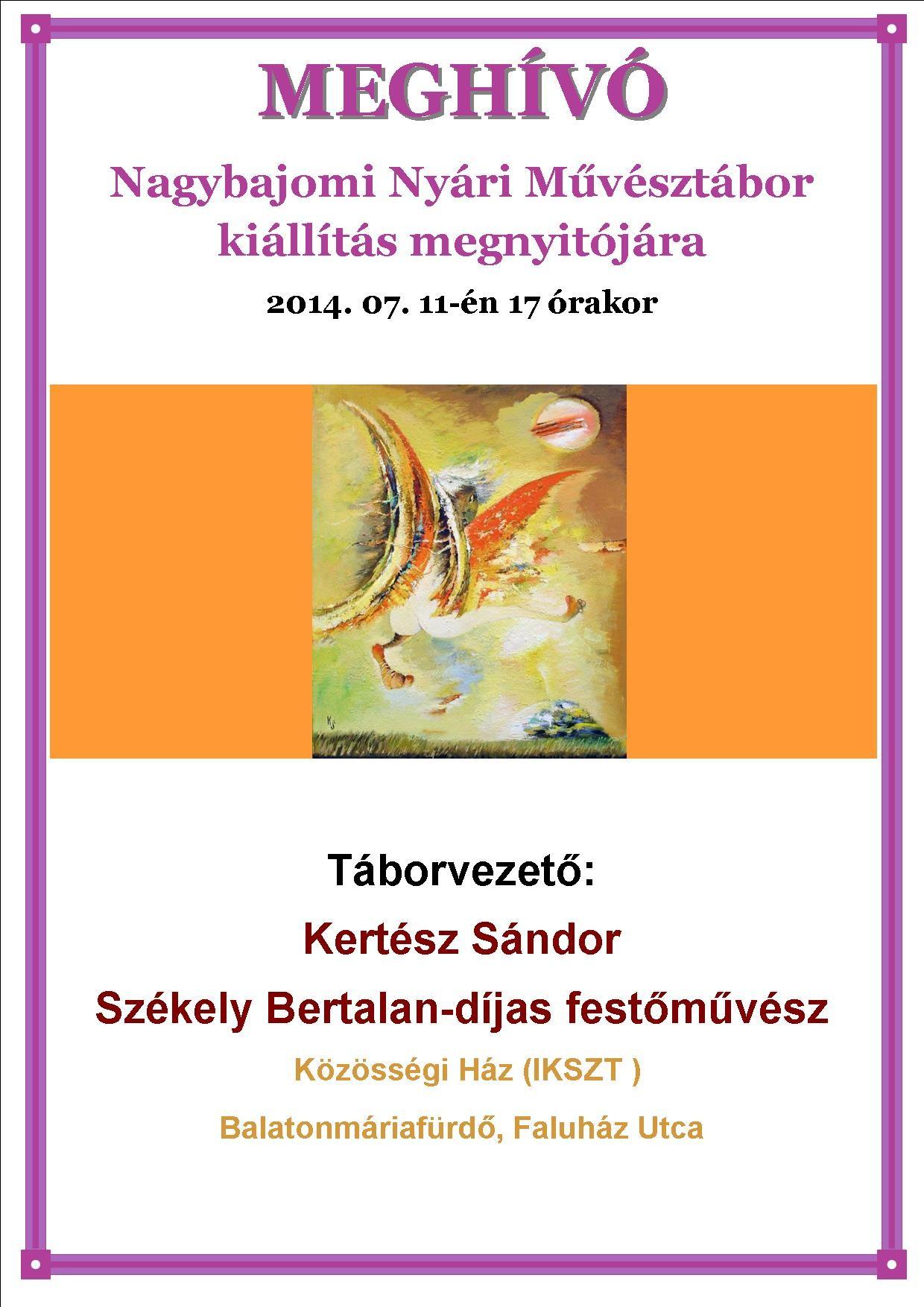 Kiállítás Balatonmáriafürdőn