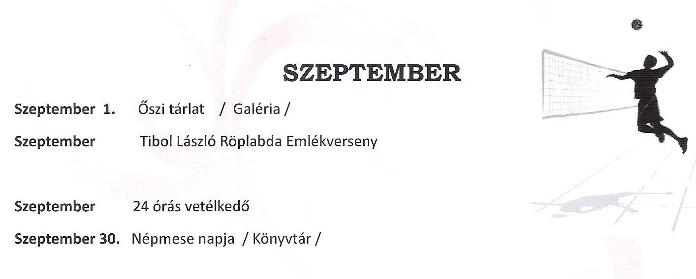 Program szeptember I.